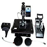 Shhivraj Enterprise 5-In-1 Hot Press Machine For Printing Tshirt, Cups,Mugs, Caps Etc