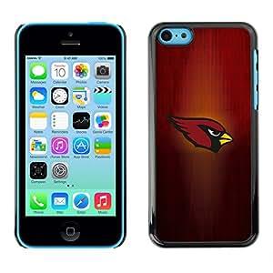 Cardenal Equipo deportivo - Metal de aluminio y de plástico duro Caja del teléfono - Negro - iPhone 5C