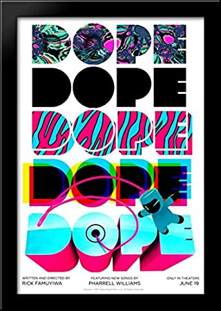 amazon com dope 28x40 large black wood framed print movie poster