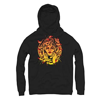 fa9bda348ca Habanero Red Medusa Hoodie to Match Foamposite Habanero Red Sneakers (Small)