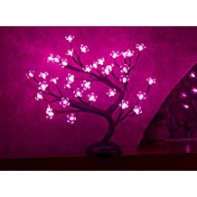 Lightshare 16Inch 36LED Cherry Blossom Bonsai Light, Pink Light, Battery Powered and Plug-in Adapter (not included), Built-in timer, Décor for Home/Festival/Party/Christmas/Night Light