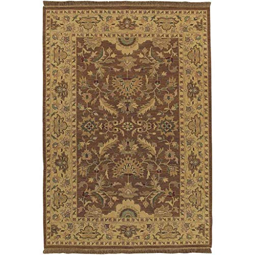 - Palmview Handmade Updated Traditional 6' x 9' Rectangle Classic 100% Semi-Worsted New Zealand Wool Dark Green/Camel/Burnt Orange/Rust/Grass Green/Mustard Area Rug