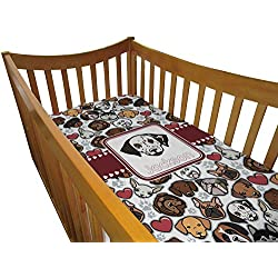 Dog Faces Boy's Crib Comforter / Quilt (Personalized)
