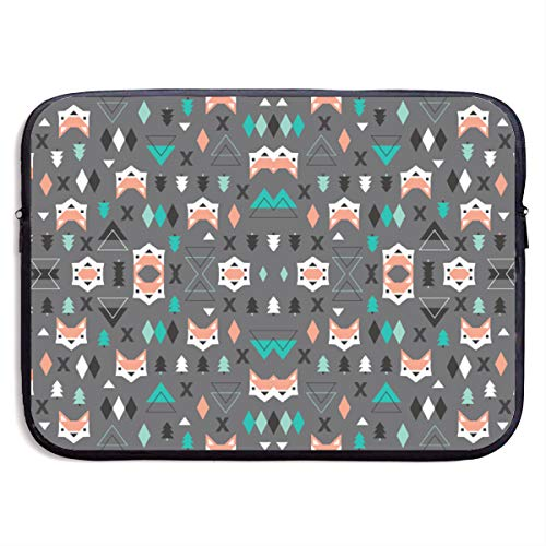 - Ysikfk 13-15 Inch Laptop Case Sleeve with Geometric Fox and Pine Tree Illustration Pattern F Printing Design Fits Laptop, Tablet