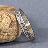 3mm Wood Bark Tree Bark Textured Rustic Oxidized Blackened Wedding Band 925 Sterling Silver Mens Women Unisex Thick Handmade Black Wedding Ring - FREE Custom Engraving