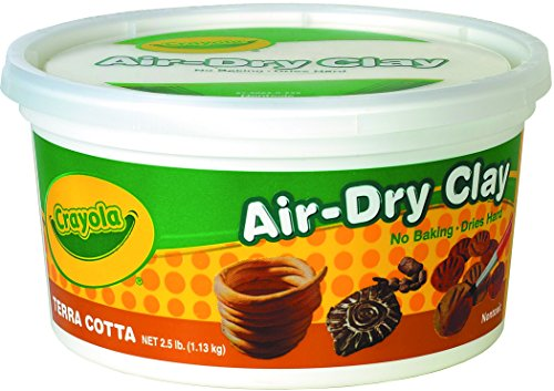 Crayola Terra Cotta Air Dry Clay 2.5