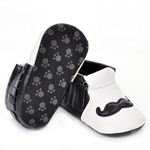 CHENGYANG Unisex-Baby Weiche Warme Schuhe Infant Kleinkind Krabbelschuhe Lauflernschuhe Rutschfest Babyschuhe Schwarz#02