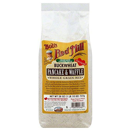 Bobs Red Mill Pancake & Waffle Mix Buckwheat Whole Grain 26.0 OZ(Pack of 1) Buckwheat Whole Grain