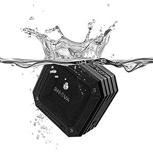 SHAVA Portable Wireless Outdoor Bluetooth Speaker, IP67 Waterproof Rugged Speaker, Enhanced Bass, Built in Mic, Speakerphone, Dustproof, Shockproof, Aux 3.5mm for Beach, Party, Pool, Shower and Home