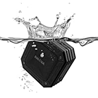Wireless Bluetooth Speaker, Portable Shower Speaker and Outdoor Waterproof Speaker with IP67 Standand, 5W Speaker Driver Super Bass, 19 Hours Playtime and Built-in Mic Speakerphone