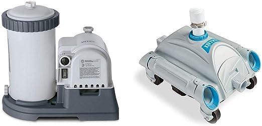 Intex 2500 GPH - Bomba de cartucho de filtro con temporizador y ...