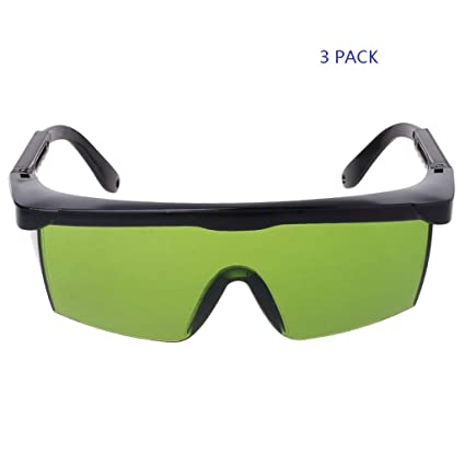 0b630ed3ceec Dinfoger Protection Goggles Laser Safety Glasses Green Blue Eye Spectacles  Protective - - Amazon.com