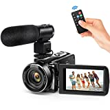 "Andoer Video Camera Camcorder, Digital Video Camcorder FHD 1080P Video Camera Infrared Night Vision 3.0"" Rotating LCD Screen 16X Digital Zoom Remote Control with Microphone and Remote Control"