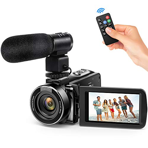 """Andoer Video Camera Camcorder, Digital Video Camcorder FHD 1080P Video Camera Infrared Night Vision 3.0"""" Rotating LCD Screen 16X Digital Zoom Remote Control with Microphone and Remote Control from Andoer"""