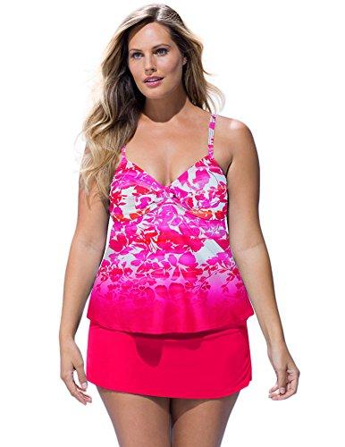 Shore-Club-Womens-Plus-Size-Aubade-Tie-Front-Underwire-Slit-Skirtini-20-Multi