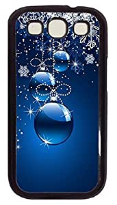 Samsung S3 Case Christmas Ornaments (blue Background) PC Custom Samsung S3 Case Cover Black