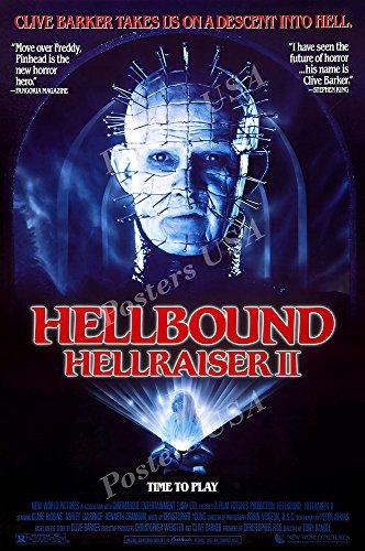 Poster Hell Movie - PremiumPrints - Hellraiser II Hellbound Movie Poster - XFIL905 Premium Canvas 11