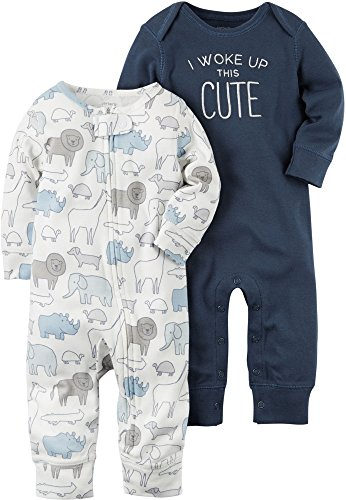 Carters Baby Boys 2Pack Coveralls 3 Months ,Navy