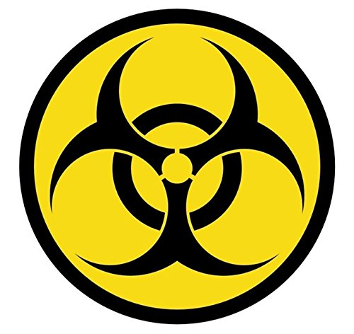 1 Pcs Inspiring Unique Biohazard Symbol Car Stickers Emblem Decals Hard Hat Decor Weatherproof Laptop Window Home Art Wall Luggage Funny Vinyl Sticker Decal Patches Size 2  Color Black Yellow