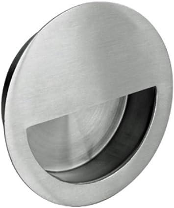 Tirador circular para puerta (acero inoxidable satinado): Amazon.es: Bricolaje y herramientas