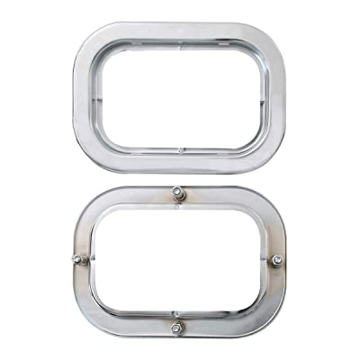 GG Grand General 77019 Stainless Steel Bezel (S.S. Flange Mount with 4 Studs for Rectangular): Automotive