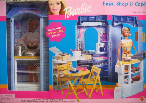 Barbie Bake Shop & Cafe Playset w Over 75 Pieces