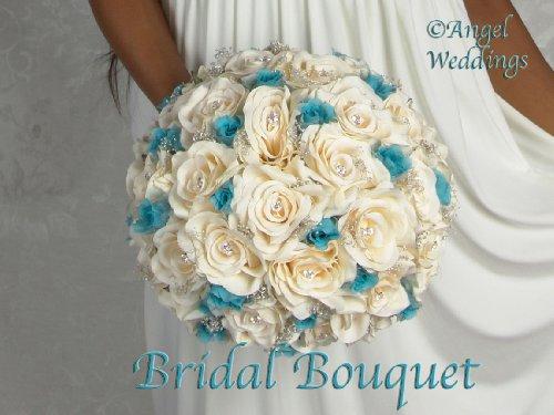 BEAUTIFUL-SHANTI-MALIBU-IVORY-Complete-Wedding-Package-Bridal-Bridesmaid-Groom-Corsage-silk-flowers