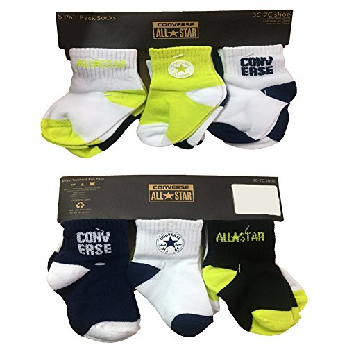 Converse Infant Toddler 6 Pair Pack Socks -