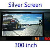 Best Portable Projection Screens - 300 inches16:9/4:3 Silver Projector Screen Fabric metal Folding Review