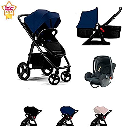 Star Ibaby One Cochecito de Bebe 3 Piezas. Color Black/Grey: Amazon.es: Bebé