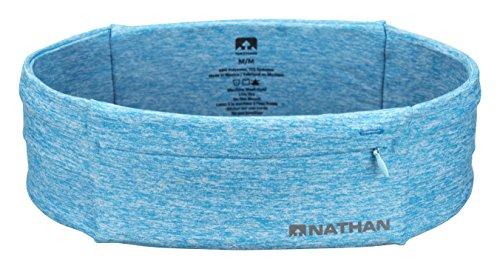Nathan 7702 The Zipster Running Waist Belt, Heathered Blue, Medium