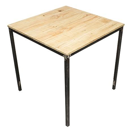 Tavoli In Ferro E Legno.C Cubo Eco Design Tavolo Acer In Ferro E Legno Amazon It Casa E