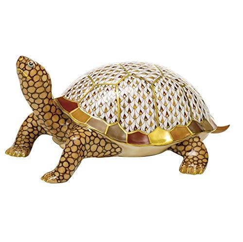 (Herend Box Turtle Porcelain Figurine Reserve)