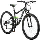 "Mongoose 27.5"" R4054WMC Ledge 2.1 Men's Bike for a Path, Trail & Mountains,Black, Aluminum Full Suspension Frame, Twist…"