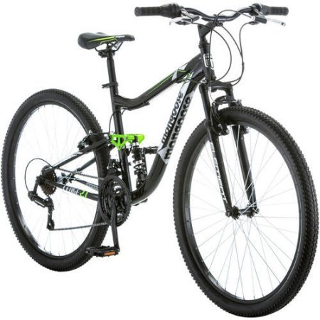 27.5' Mongoose R4054WMC Ledge 2.1 Men's Bike for a Path, Trail & Mountains,Black, Aluminum Full Suspension Frame, Twist Shifters Through 21 Speeds