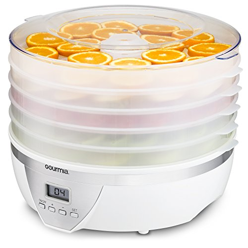 Gourmia GFD1550 Food Dehydrator - Digital Temperature Settings - Five Nesting Trays - Drying System for Beef Jerky, Fruits & More - BPA Free - 500W - White - Free - Macys Store Hour