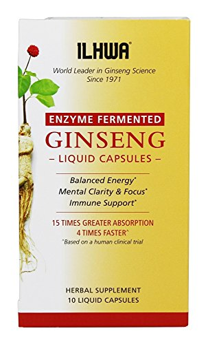 ILHWA – Enzyme Fermented Ginseng – 10 Liquid Capsules