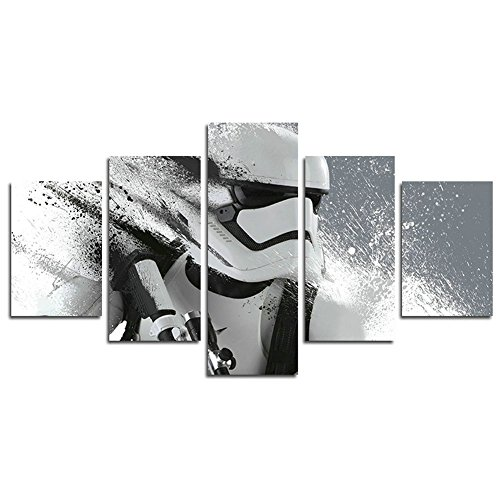 Leyrus 5 Piece Stormtrooper Star Wars movie painting for liv