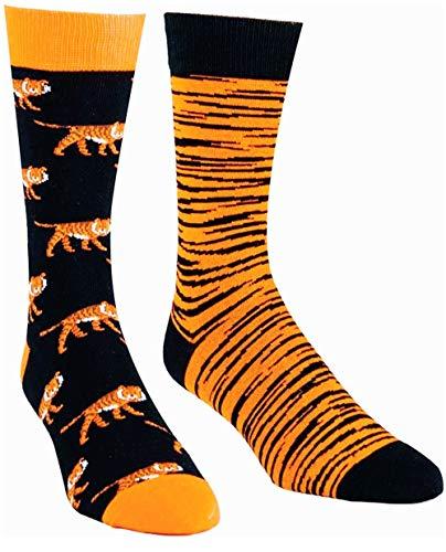 Tiger Socks for Men,Odd Socks for Men,Novelty Animal Crew Socks,Patterned Dress Socks Teenager,Cool Socks,Gift Socks,2… |