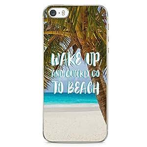 iPhone 5S Transparent Edge Phone case Beach Phone Case Vacation iPhone 5 Case with Transparent Frame