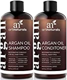Art Naturals® Organic Moroccan Argan Oil Shampoo and Conditioner Set (2 x 16 Oz) – Sulfate Free – Volumizing & Moisturizing, Gentle on Curly & Color Treated Hair,For Men & Women Infused with Keratin