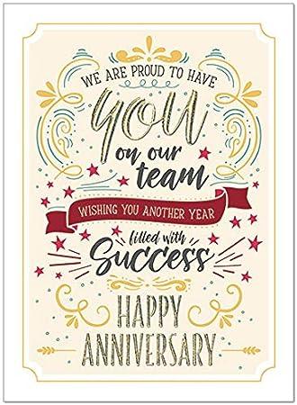 25 Employee Anniversary Cards Modern Typographic Design 26 White Envelopes Fsc Mix