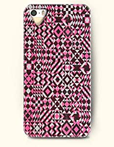 SevenArc Phone Skin Apple iPhone case for iPhone 5 5s ( 5C EXCLUDED ) -- Magenta and Brown Geometric Patter