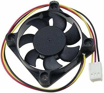 Ventilador 12V DC 50x50x10 3 hilos y conector, CZF AFB0512HHB ...