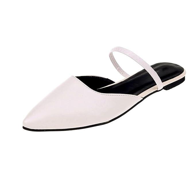 e7a5afe6d2a0f DENER Women Ladies Girls Flat Shoes Mules, Open Back Slingback Slip ...