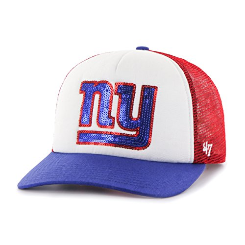 NFL New York Giants Women's Glimmer Captain CF Strap Hat, Women's, Red