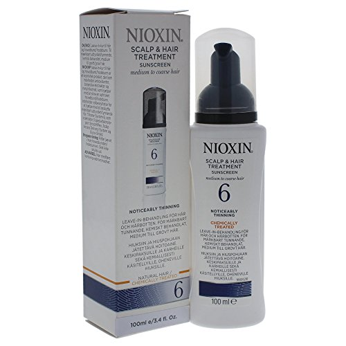 Nioxin System 6 Scalp & Hair Treatment, 3.4 Fl Oz