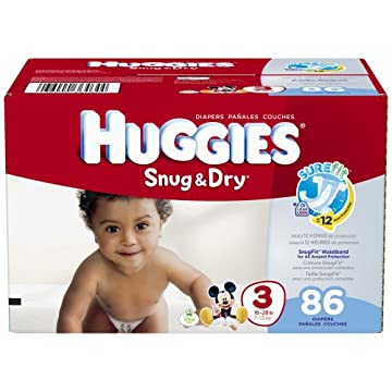 Huggies Snug and Dry Diapers (Size 3, Pack of 86)