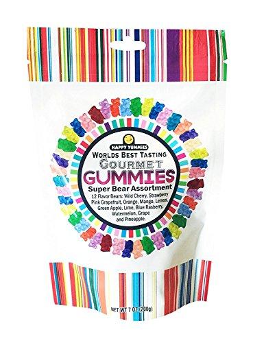 Happy Yummies Worlds Best Tasting Gummies (Super Bear Assortment 7oz)