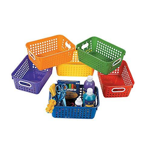 Fun Express - Classroom Storage Tall Baskets W/Handles - Educational - Educational Furniture - Storage - 6 -
